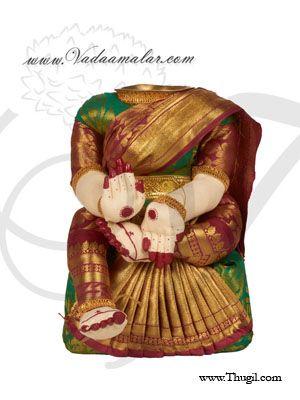 "18"" Goddess Lakshmi VaraLaksmi Idol for Pooja Vratam Doll with Decorations"