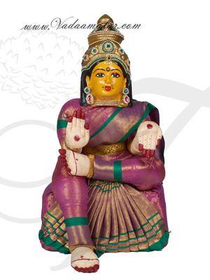 "19"" Goddess Lakshmi VaraLaksmi Idol for Pooja Vratam Doll with Decorations"