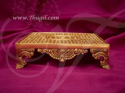 Carved Brass Pedestal Stand Chowki For Idols and Statues Buy Online