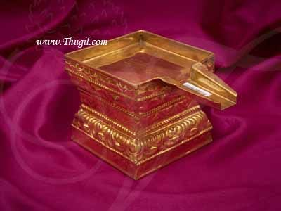 Gold Plated Brass Abhishekam Stand Peedam for Hindu Statues Buy Now 10 inches
