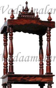 "30"" Height wooden pooja mandir made of  teak wood"