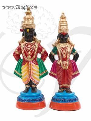 16 inches Krishna Panduranga Ratha dolls In Paper Mache Buy Online