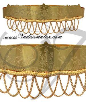 Odiyanam Gold Waist Hip Belt Jewellery For GOD Deity Buy Now