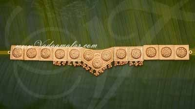 Kamarband Flower Design engraved waist belt Odiyanam Hip Belt Dance jewelry Buy Now