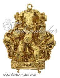 Lord Ganesha Ganesh Gold Plated Pendant.
