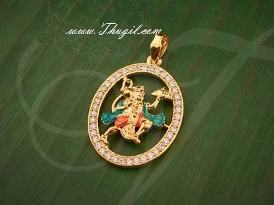 Lord Hanuman American Diamond Stones Pendant Buy Online