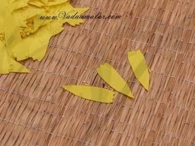 Yellow Marigold Petals Samanthi Petal Cloth Flower Decoration Available online - 2000 petals