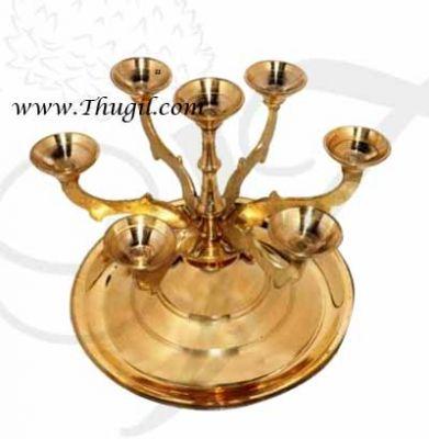 "4.5"" Quality Seven Kilai Aarthi Aarati Deepam Pancharati Brass Buy Now"