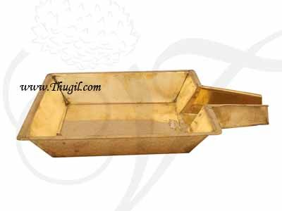 11.5 inches Brass Abhishek Plate for Lord Shiva Lingam Buy Now