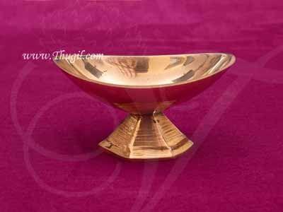 "Brass Vibhuti Vibuthi Thiruneer Cup Holder shop online 1.5"""