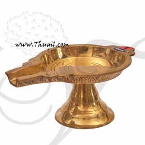 """Round Brass Abhishekam Stand Peedam for Hindu Statues Deities Buy Now 8"""""""