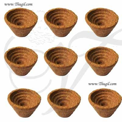 Sambrani Cup - Dhoop Cup for Home Puja 9 pieces pack Buy Now