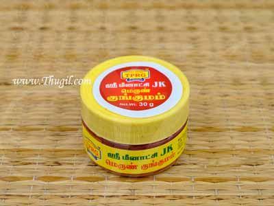 30 gms Maroon Kungumam Sri Meenakshi JK Kumkum Powder Buy Now