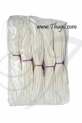 4 Inch Long Cotton Wick Vilakku thiri Panju thiri Jyot Batti Buy Now -100 pieces