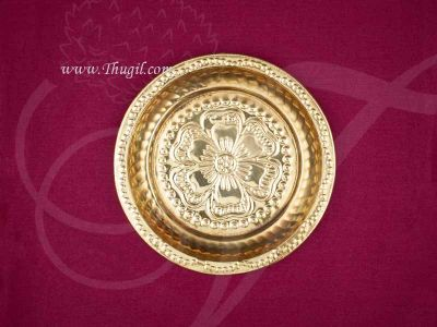 """6"""" Small size Brass Pooja Plate Buy Now - 3 pieces"""