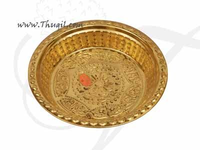 Brass Pooja Plate Thambalam Thattu Offering Plates Buy Now 10 inches