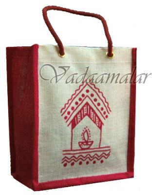 8 x 9 inches Jute Bag Pouches Return Gift Wedding Buy Bags Online