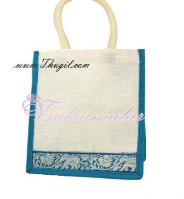 10 x 10 inches Trendy Jute Pouches for Gifts Wedding