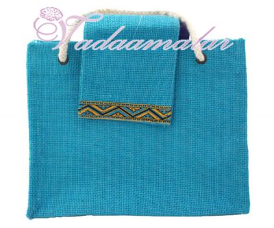 Beautiful Monocolor Jute Bags/ Pouches for Wedding and Engagement
