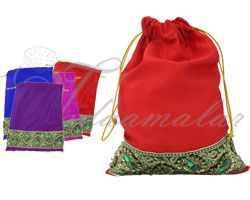 Gift bag India Weddings Festivals Satin Cloth Bags Pouchs Return Gifts