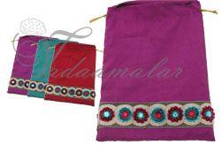 Traditional Weddings Cloth Zari Design Bags Pouchs Wedding Festivals Puja India