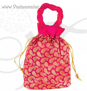 Festival Gifts Jacquard Cloth Bags Pouchs Thamboolam Wedding India Buy Online