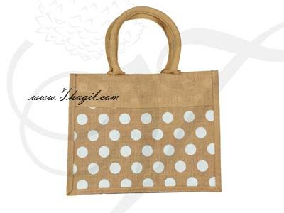 """11"""" Beautiful Jute Bags/ Pouches for Wedding and Engagement"""