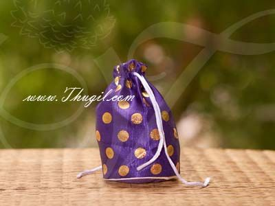 4 x 4.5 Festival Gifts Cloth Bags Pouchs Polka Dots Wedding India Buy Online