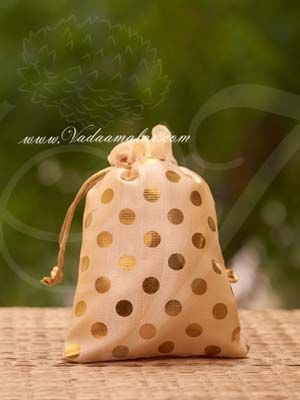 7 x 5 Festival Gifts Cloth Bags Pouchs Polka Dots Wedding India Buy Online
