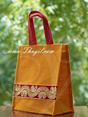"""10.5"""" Beautiful Jute Bags/ Pouches for Wedding and Return Gift Buy Now"""