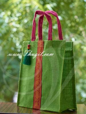 """10"""" Beautiful Jute Bags/ Pouches for Wedding and Return Gift Buy Now"""