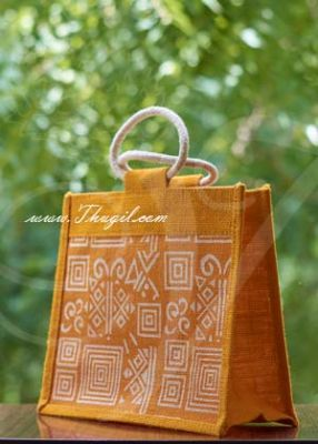 """8.5"""" Beautiful Jute Bags/ Pouches for Wedding and Return Gift Buy Now"""