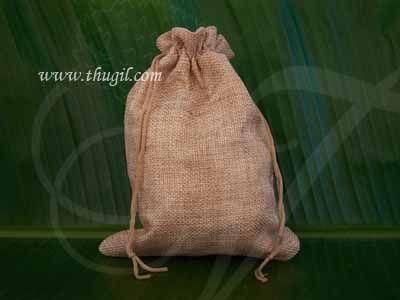 Wedding Return Gift Jute Pouch Potli Bag Thamboolam Bags - 11 x 9 Buy Now