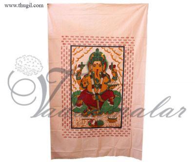 Buy Indian Hindu God Ganesha Cotton Altar Cloth Screen Printed