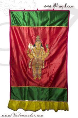 Buy Inner Scranton Satin Screen In Front of Altar Hindu Temple Thirai