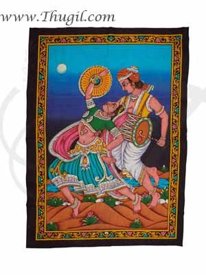 Indian Folk Dance Poster on Unframed Cloth Printed Buy Now