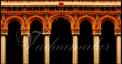 Traditional stage banners backdrops for bharatnatyam, dance, music or cultural gatherings