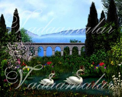Traditional natural scenery stage Banner