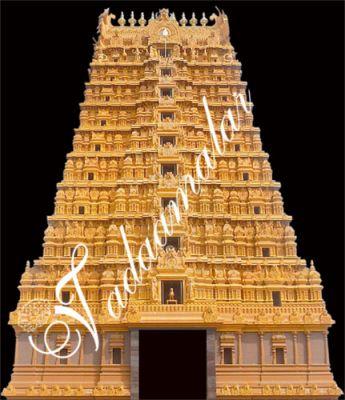 Temple Mandapam Stage Backdrop
