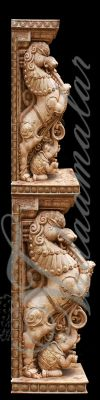 India Temple Pillars Banner Print Photo Quality Indian wedding Stage decoration