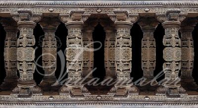 Ancient India Temple Pillars Banner Print Photo Quality Indian Stage decoration
