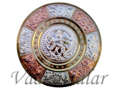 thanjavur Art Plate with natrajar engraved for corporate gifts for guests and dancers