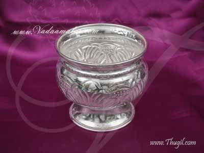 German Silver Kungumam Chandan Bowl Wedding Welcome Set Buy now