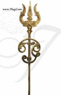 4 Feet / 48 inches Trishul Soolam for Amman Shiva Shakti Brass Buy Online