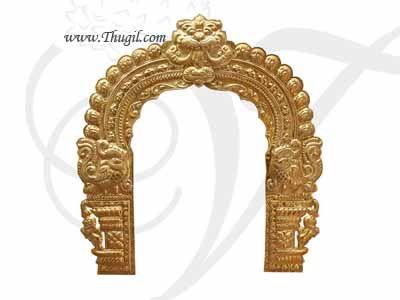 6 feet Brass Thiruvachi Arch Hindu deity Prabhavali Temple Alankaram Decorations Buy Online