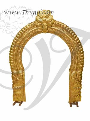 3 feet Temple Prabhavali Brass Thiruvachi Arch deity Idols Decorations Buy Online