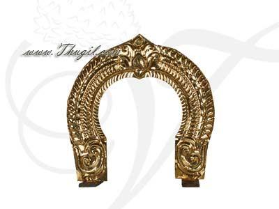 14 inches Brass Thiruvachi Arch Hindu deity Prabhavali Temple Alankaram Buy Now
