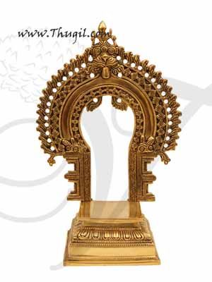 "Brass Prabhavali Thiruvachi Pedestal for God Statues Buy Online 10"""