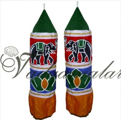 Decorative Thombai Traditional India Stage Temple Car decorations -2 pieces - 2feet