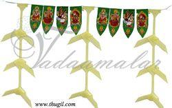 Traditional Auspicious mango leaves decoration toran toranam door hanging tapestry- 10 meters